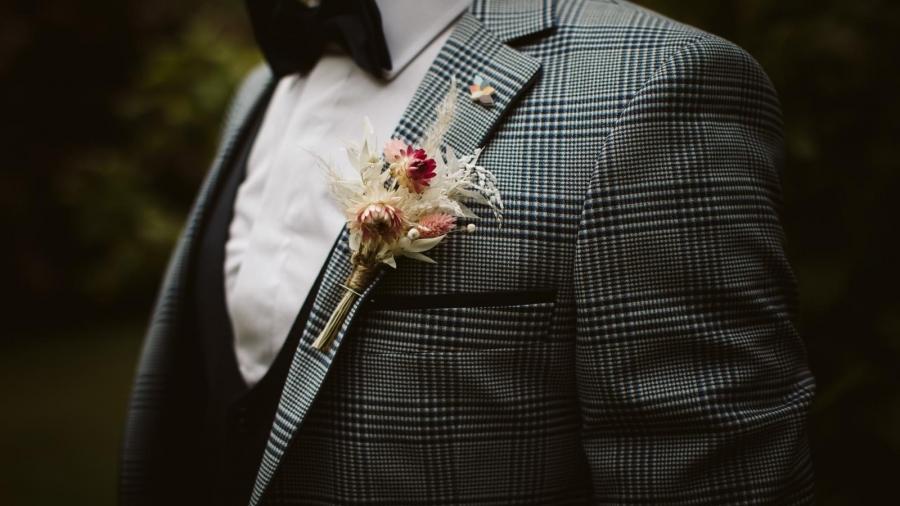 Jon Paul - dried flower buttonhole